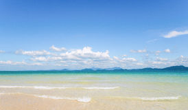 Blue sea in summer time Royalty Free Stock Photos