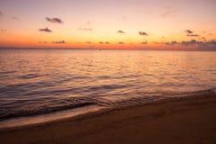 Blue sea and sunset twilight Royalty Free Stock Photo
