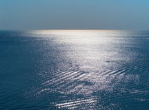 Blue sea surface Stock Image