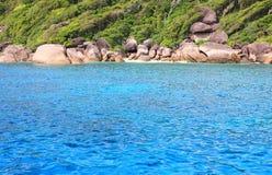 Blue sea surface Similan islands Royalty Free Stock Photo