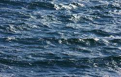Blue sea surface Stock Images