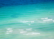 Blue sea surface with waves Royalty Free Stock Photo