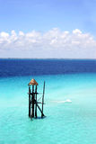Blue Sea Tower royalty free stock photo