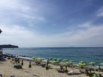 Blue sea in Tropea Royalty Free Stock Photos