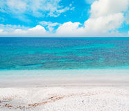 Blue sea under clouds Royalty Free Stock Photo