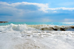 The blue sea of Valencia Royalty Free Stock Images