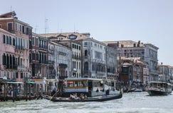 Blue sea - Venice, Italy/historic buildings the gondolas. Stock Photos