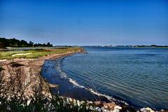 The blue sea in venice lagoon Stock Photo
