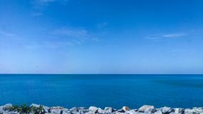 Blue sea. View beatiful nature relax ocean sky blue travel clear Stock Photo