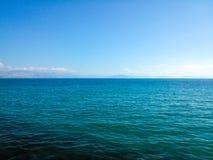 Blue sea. A view in Ionian sea in Corfu island Greece Stock Photos