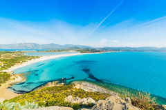 Blue sea in Villasimius coast Royalty Free Stock Photo