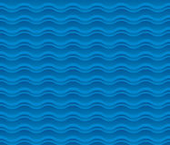 Blue sea water abstract geometry pattern. Stock Photos
