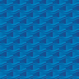 Blue sea water abstract geometry seemless pattern. Royalty Free Stock Photo