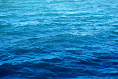 Blue sea water Stock Photos