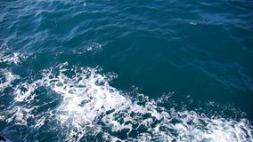 Blue sea water passing view stock video footage