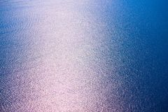 Sea water surface in sun glare Stock Image