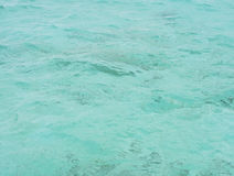 Blue sea waters Royalty Free Stock Image