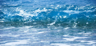 Blue sea wave. Blue wave formation with foam in adriatic sea Royalty Free Stock Image