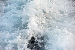 Blue sea wave abstract background detail close Royalty Free Stock Image