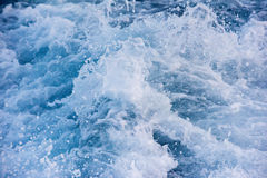 Blue sea wave abstract background detail close Stock Photo
