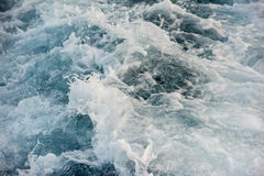 Blue sea wave abstract background detail close Stock Images