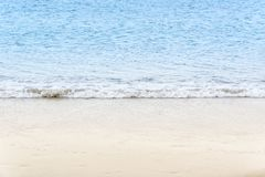 Blue sea wave on beach, vacation concept background Royalty Free Stock Photography