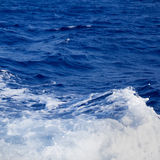 Blue sea wave foam detail Royalty Free Stock Photography