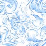 Blue sea wave. Seamless background texture Stock Photos