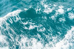Blue sea waves abstract. Background royalty free stock image