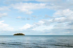Blue sea with waves and clear blue sky with cloud& x28;ocean,wave,sea Royalty Free Stock Photos