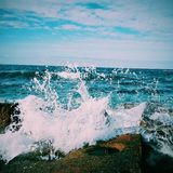 Blue Sea Waves Stock Images