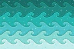 Blue sea waves Meridian stock illustration