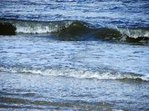 Blue sea waves , North sea beach, Friesland Royalty Free Stock Photo