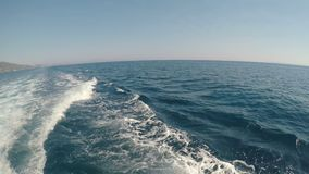 Blue sea waves seen from a sailing boat -. Blue sea waves seen from a sailing boat stock video footage