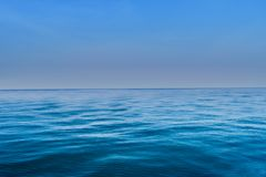 Blue sea waves surface abstract background pattern Stock Photography