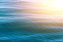 Blue sea waves surface abstract background pattern Stock Photos