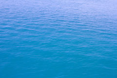 Blue sea waves surface soft and calm with blue sky background Royalty Free Stock Photography