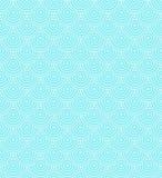 Blue Sea wavy seamless pattern. Royalty Free Stock Photo