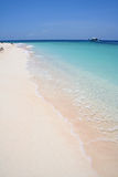 Blue sea white beach desert island background Stock Image