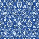 Blue Seamless abstract floral pattern vintage background Royalty Free Stock Images