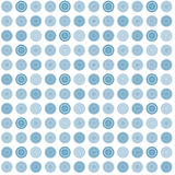 Blue seamless abstract pattern with round shapes Stock Photography
