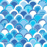Blue seamless background. With circles Stock Illustration