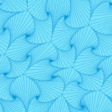 Blue seamless background made of pieces with curved shapes. Blue seamless background made of pieces with curved shapes and lines in form, resembling seashells vector illustration