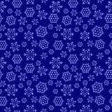 Blue seamless background with snowflakes, royalty free stock images