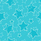 Blue seamless background with stars Stock Image