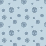Blue seamless background with stylized flowers. Vector. Blue seamless background with stylized flowers. Abstract repeating pattern. Vector Royalty Free Stock Image