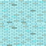 Blue seamless bricks wall. Abstract texture; vector art illustration Stock Photos