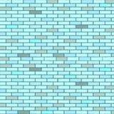 Blue seamless bricks wall. Abstract texture; vector art illustration vector illustration