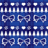 Blue seamless Christmas pattern Royalty Free Stock Photos