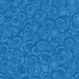 Blue seamless circle pattern Stock Images